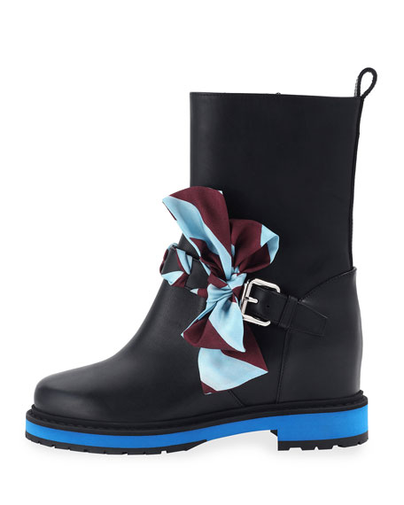 Flat Bow Buckle Boot
