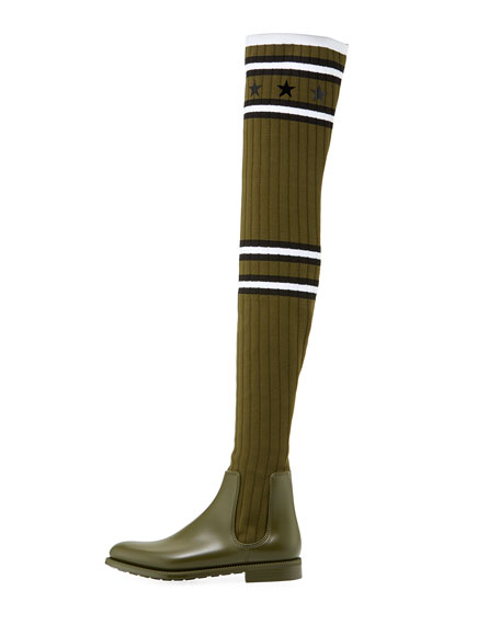 844d0989b2fa Givenchy Over-the-Knee Rubber Sock Boot