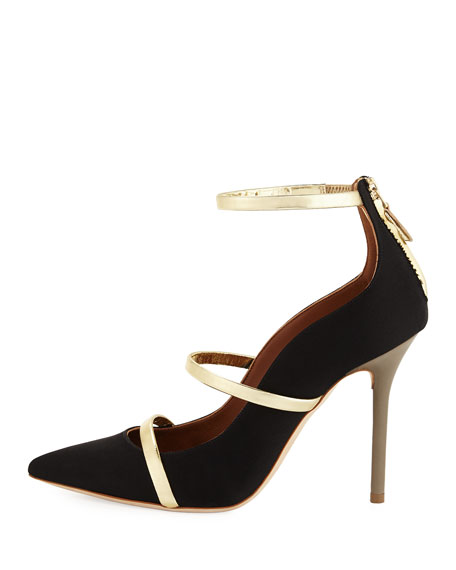 Robyn Three-Strap 100mm Pump, Black