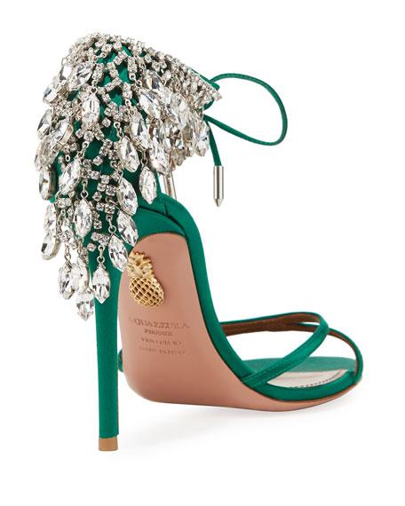 Eden Crystal-Embellished Ankle-Tie Sandal