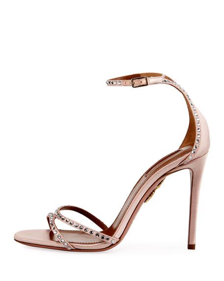 Puriest Crystal-Embellished Sandal, Blush