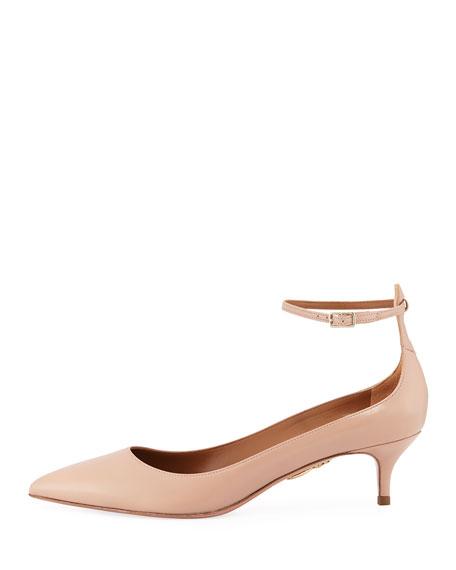 Kisha Ankle-Strap 45mm Pump, Light Pink