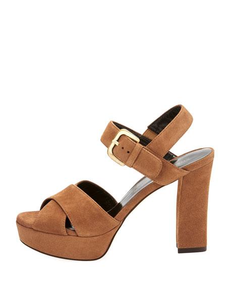 Exhale Suede Platform Sandal