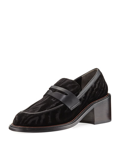 Silvia Velvet Devore Loafer