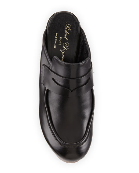 Damor Leather Loafer Clog, Black