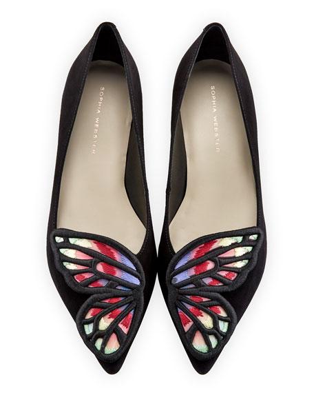 Bibi Suede Butterfly Skimmer