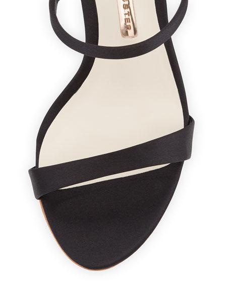 Rosalind Satin Crystal-Heel Sandal