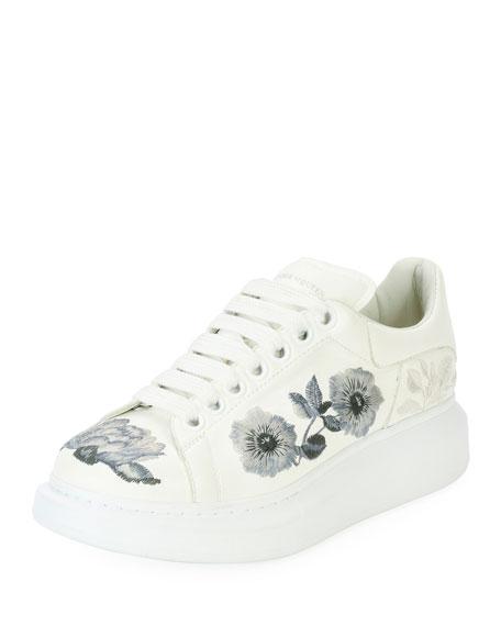alexander mcqueen embroidered sneakers