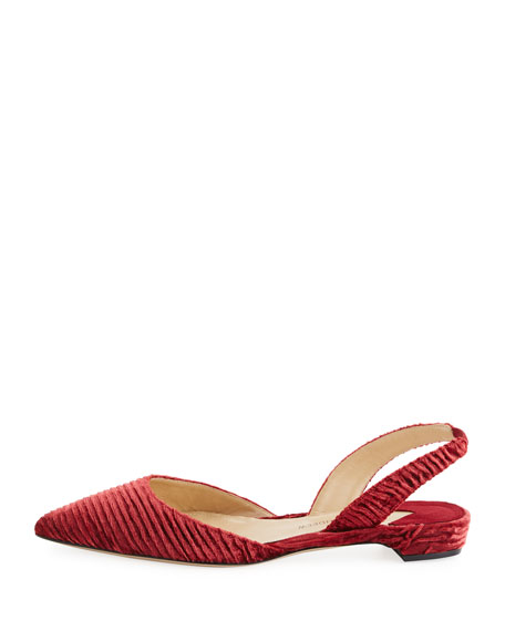 Rhea Ruched Velvet Flat