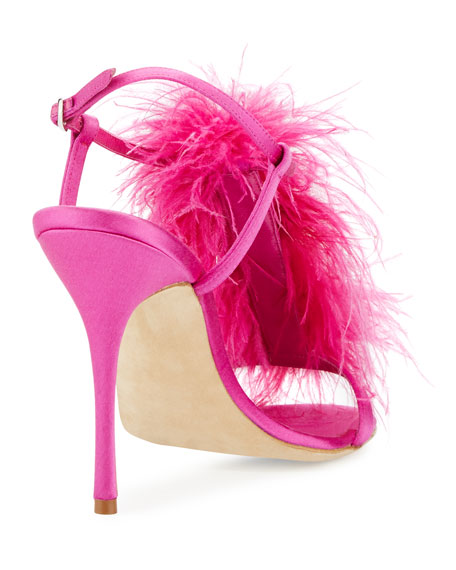 Eila Feather T-Strap 105 mm Sandal