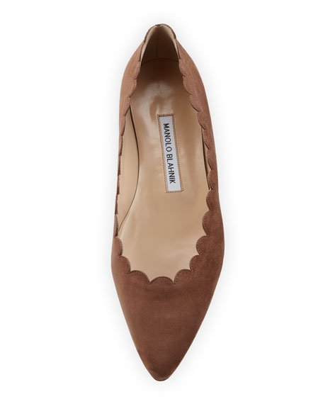 Srila Scalloped Pointed-Toe Flat