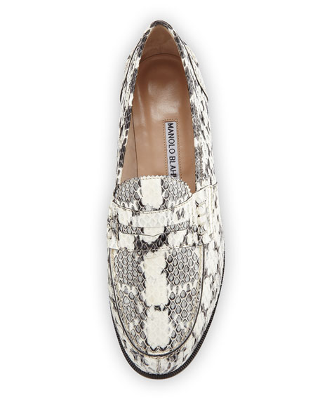 Ellen Watersnake Penny Loafer