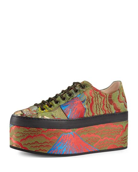 Peggy Jacquard Platform Sneaker, Multi