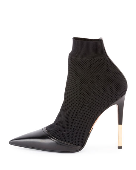 Aurore Knit Sock Bootie, Black