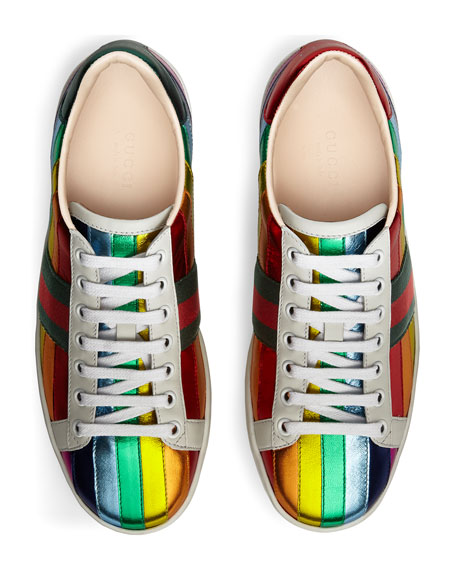 New Ace Metallic Striped Sneaker, Multi