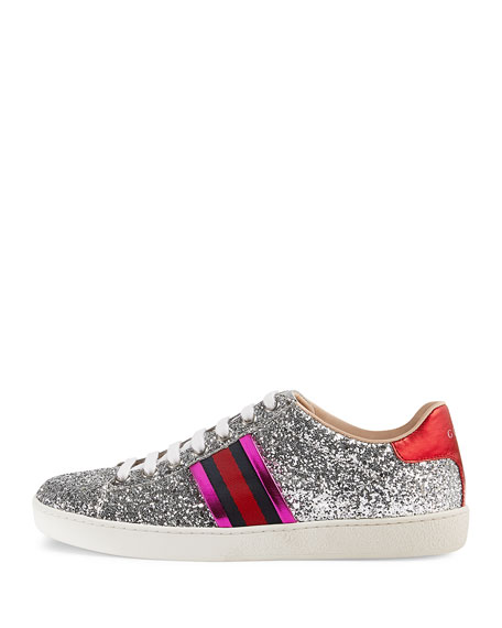 New Ace Glitter Low-Top Sneaker