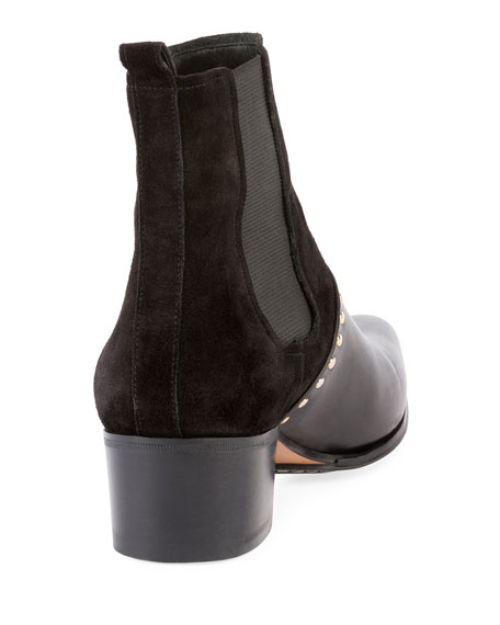 Artemisia Studded Chelsea Boot, Black