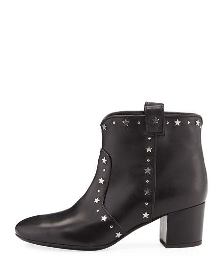 Belen Star-Studded Western Bootie, Black