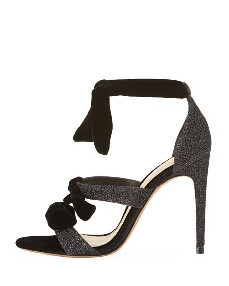 Mary Glitter 100mm Sandal, Black