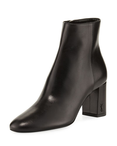 Loulou Leather Block-Heel Boot