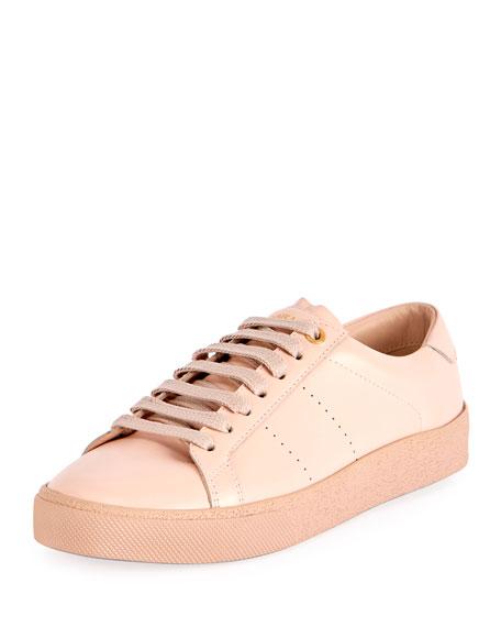 Saint Laurent Court Classic Leather Sneaker, Pink