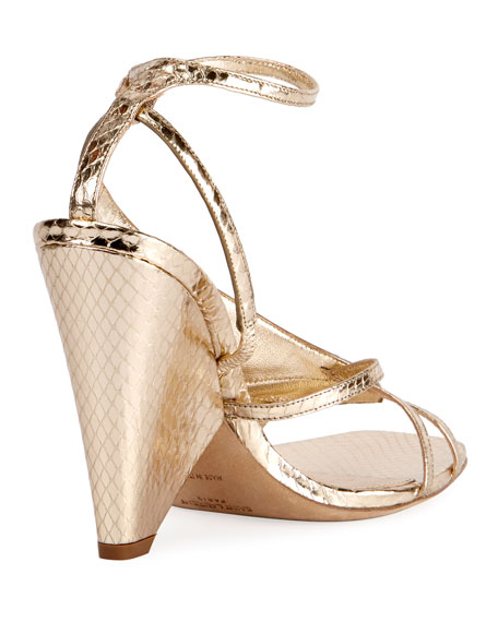 Niki Snakeskin Wedge Sandal