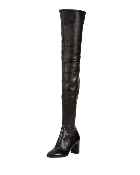 6af20f70de8 Saint Laurent Loulou Stretch-Napa Over-the-Knee Boot