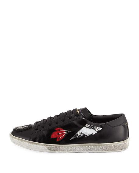 Court Classic Patchwork Sneaker, Black