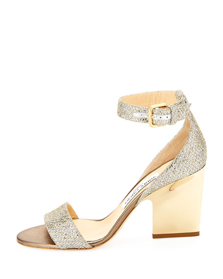 ae8860215b17 Jimmy Choo Edina Metallic Sandal