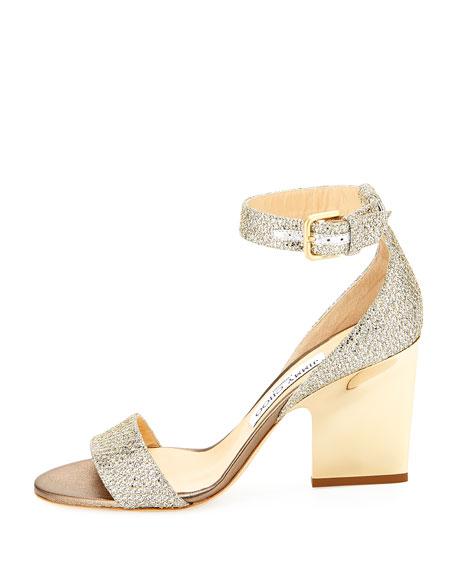 Edina Metallic Sandal, Champagne