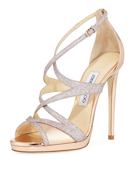 Jimmy Choo Marianne Strappy Crisscross Sandal, Gold