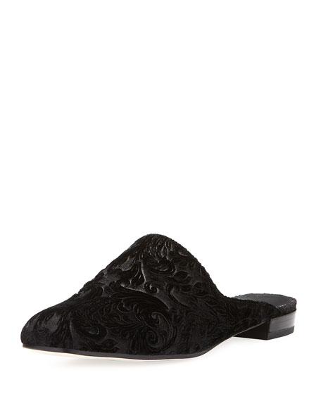 Mulearky Velvet Mule Flat, Black