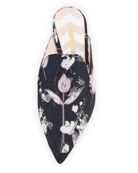 Beya Floral-Print Mule Slide