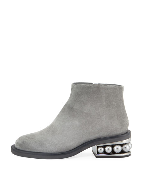 Casati Suede Pearly Heel Boot