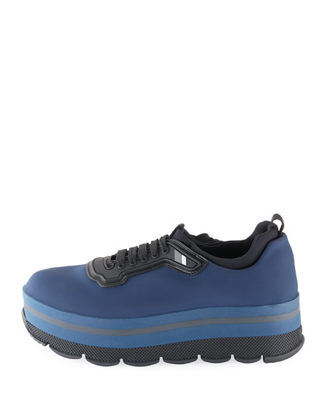 Platform Fabric Sneaker, Blue