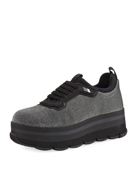 Platform Glitter Sneaker