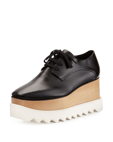 Stella McCartney Elyse Platform Oxford, Black