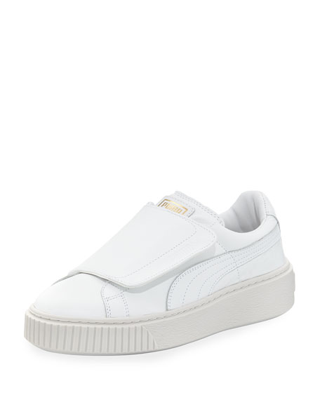 Basket Wide-Strap Platform Sneakers