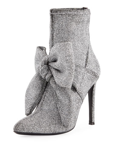 Natalie Stretch-Fabric Bow Boot