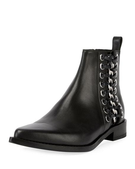Alexander McQueen Cowboy Chain-Stitch Bootie