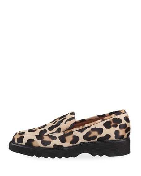 Kelsey Metallic Leopard Calf Hair Loafer
