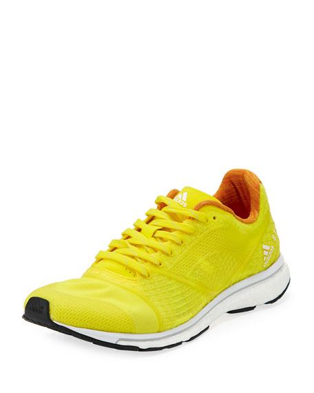 Adizero Adios Knit Sneaker, Yellow/Pink