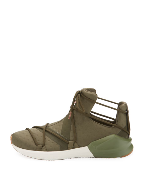 Fierce Rope Dotted Stretch Sneakers, Olive