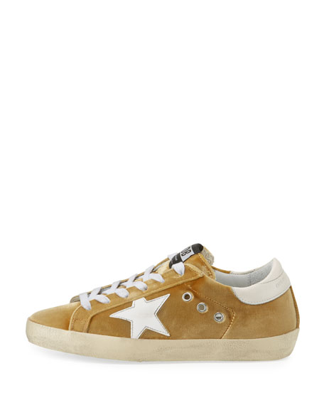 Velvet Low-Top Star Sneaker