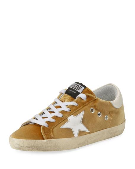 Velvet Low-Top Star Sneaker