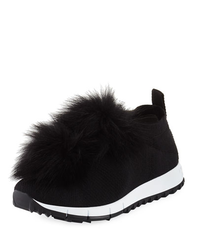 Norway Trainer Sneaker with Fur Pompom