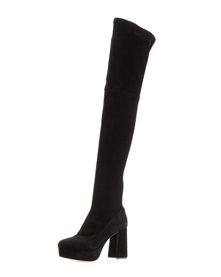 Platform Velvet Over-the-Knee Boot