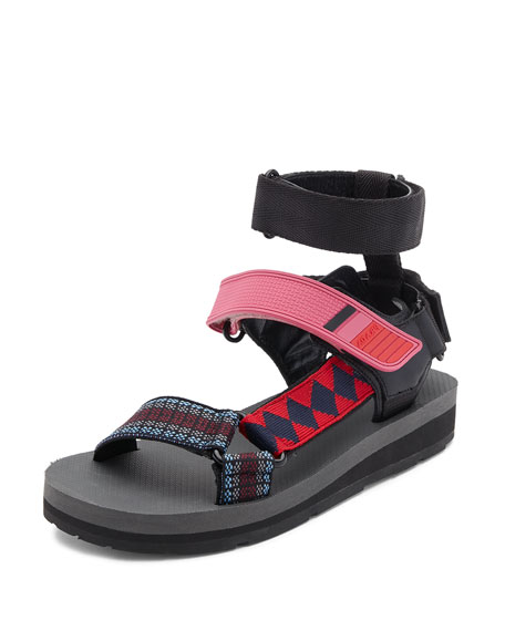 Printed Grip-Strap Sandal, Multi Pattern
