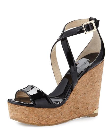 Portia Crisscross Platform Wedge Sandal