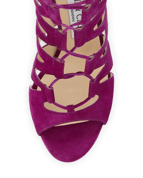 Hitch Caged Suede Sandal